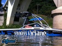 1990 Supra Conbrio with Airborne Wakeboard Tower