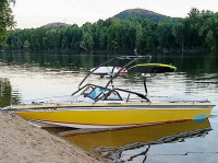 1986 Supra Saltare with Airborne Wakeboard Tower