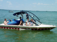 1983 Mastercraft Stars and Stripes with Airborne Wakeboard Tower