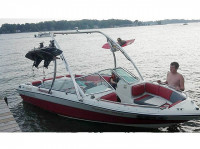 1989 Four Winns Freedom with Ascent Wakeboard Tower