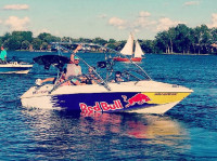 1996 Larson sei176 with Assault Wakeboard Tower