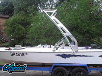 1980 Custom Hallet Bow Rider with FreeRide Wakeboard Tower