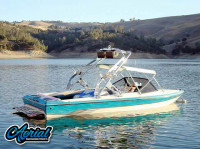 1991 Malibu Euro F3 with FreeRide Wakeboard Tower