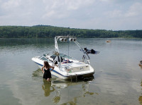 1990 Sea Ray 170 with FreeRide Wakeboard Tower