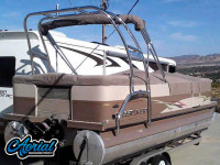 Crestliner with F250 Pontoon Tower