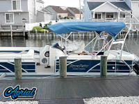 2012 Godfrey AquaPatio Coastal Edition with F250 Pontoon Tower