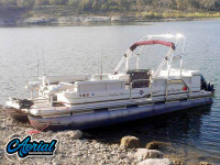 2010 Sun Tracker Party Barge 240 with F250 Pontoon Tower