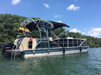 2014 Godfrey Sanpan 2500 FE BAR with F250 Pontoon Tower