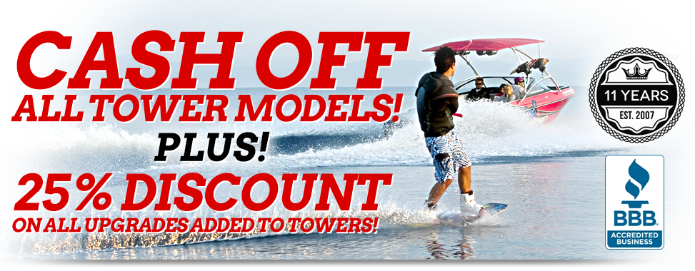 Best selling wakeboard towers