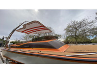 1980 Campbell Daycruiser 22 with FreeRide Wakeboard Tower