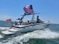 2000 Cobalt 252 wakeboard tower and bimini
