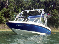 2006 Bayliner 175 wakeboard tower with speakers